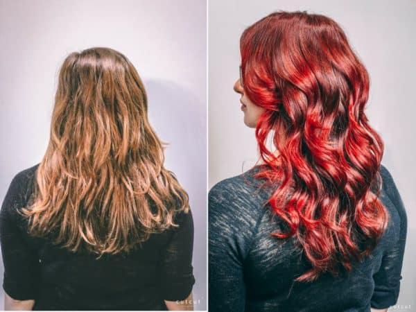 kobieca-fryzura-galeria-zdjec-czerwona-damska-koloryzacja-wielotonowa-najlepszy-fryzjer-poznan