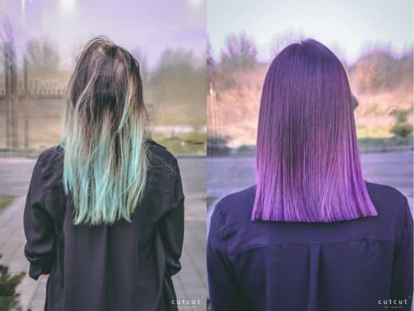 kobieca-fryzura-galeria-zdjec-fioletowa-damska-koloryzacja-wielotonowa-najlepszy-fryzjer-poznan
