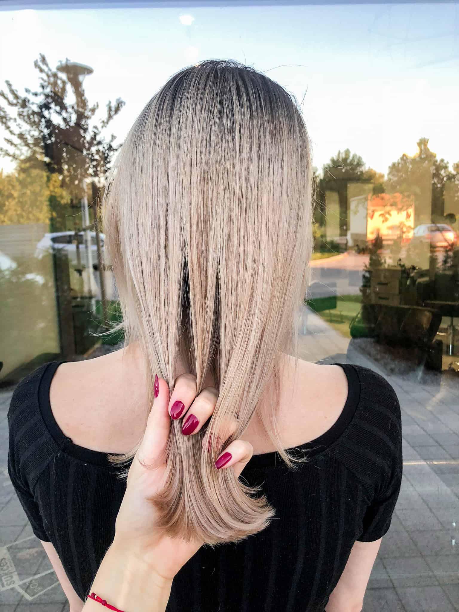 Blond Koloryzacja Wielotonowa Włosy Długie Cutcut