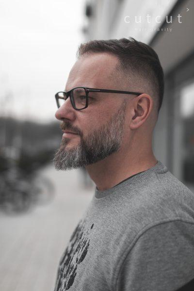Fade Z Dobrze Zrobioną Brodą Cutcut Pracownia Fryzjerska Poznań